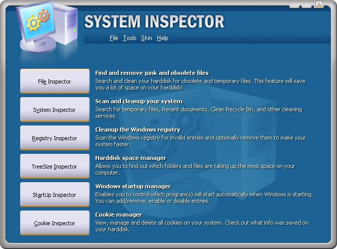 System Inspector screen shot